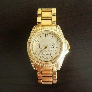 Stainless steel gold women's watch